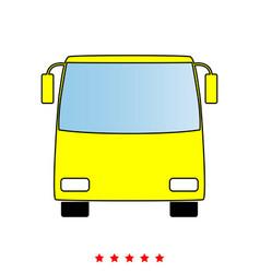 bus it is icon vector image vector image