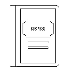 Business book icon outline style vector