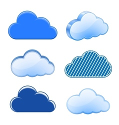 Cloud icon collection vector