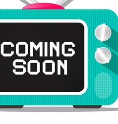 Coming soon tv screen detail vector