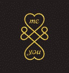 Conceptual symbol of infinite love vector