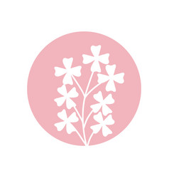 Cute flower natural icon vector