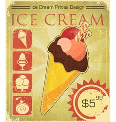 Design Ice cream price vector image vector image