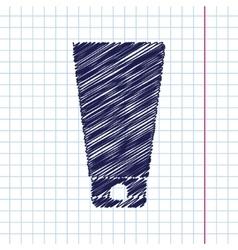 flat bottle vector image vector image
