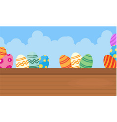 Happy easter backgrounds with egg vector