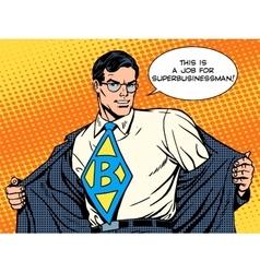 job super businessman hero vector image vector image