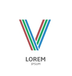 LOREM ipsum V vector image vector image