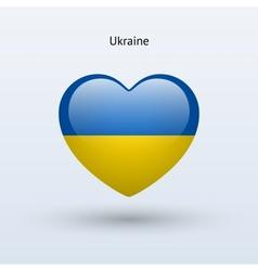 Love ukraine symbol heart flag icon vector
