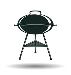 Monochrome bbq grill sign vector