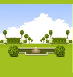 Park garden plants vector