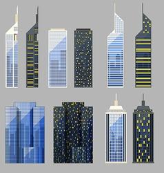 Set of detailed skyscraper vector
