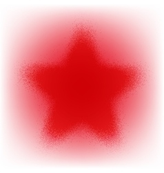 Star Grunge Red vector image