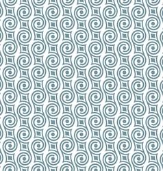 Stylish seamless retro pattern with swirls vector