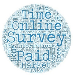 Take online surveys from home and get paid text vector