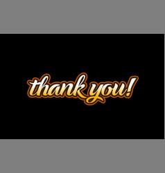 Thank you word text banner postcard logo icon vector