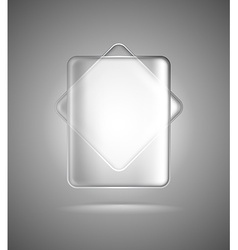 Transparent glass rectangles vector image