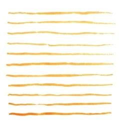 Watercolor stripes strokes orange brushes vector