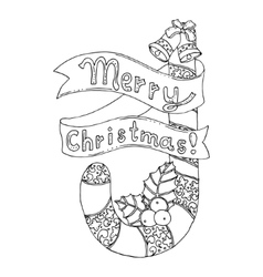 Black mono color for merry vector