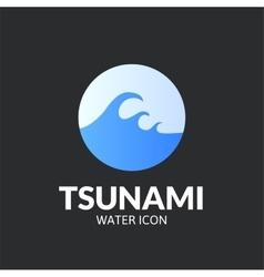 Tsunami logo template vector image