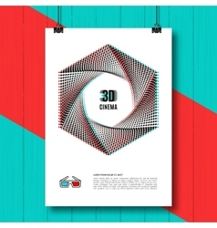 Cinema 3d creative concept poster brochure vector