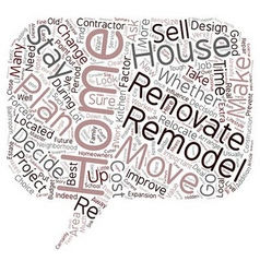 Relocate or renovate text background wordcloud vector