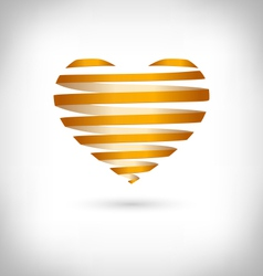 Golden spiral heart on grayscale vector