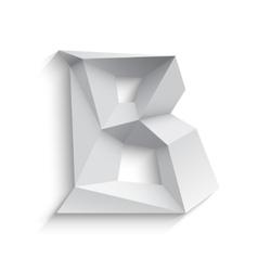 3d letter b on white vector