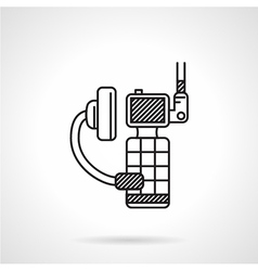 Black icon for portable radio device vector