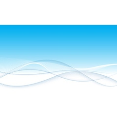 Modern abstract blue swoosh wave certificate vector
