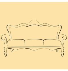Sketched sofa couch vector
