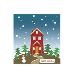 Seasonal card keep warm vector