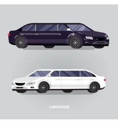 Luxury limousine car vector