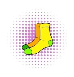 Men socks icon comics style vector