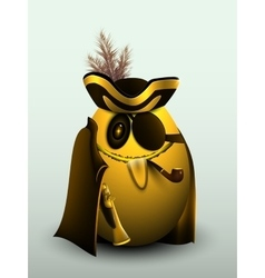 Golden egg pirate captain vector