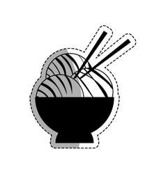 Asian food gastronomy vector image vector image