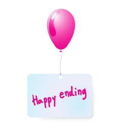 Balloon with happy ending tag vector
