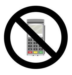 bank terminal ban vector image