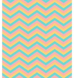 Beige and blue chevron seamless pattern background vector image vector image