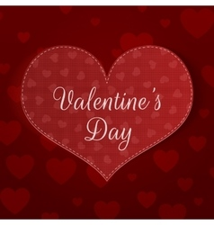 Big valentines day heart banner with pattern vector