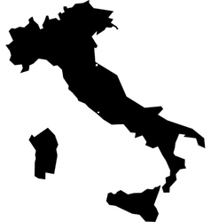 Black silhouette map of Italy vector image vector image