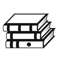 book school icon simple black style vector image