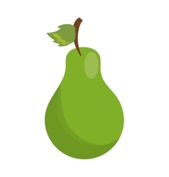 cartoon sweet pear fruit icon vector image