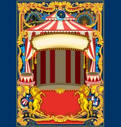 Circus poster frame vector