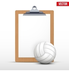 Coaching blank clipboard vector image