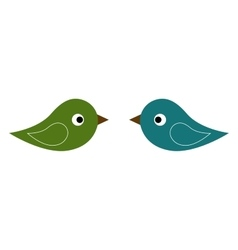 colorful twins birds vector image