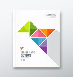 Cover Annual report bird origami paper design vector image vector image
