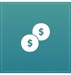 Dollars money coin icon - vector