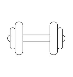 Dumbbell gym weight vector