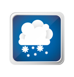 emblem cloud with snow icon vector image vector image