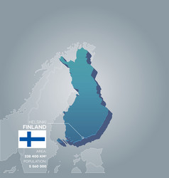 Finland information map vector
